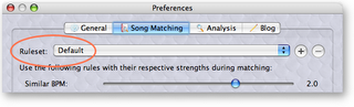 Song Matching Preferences